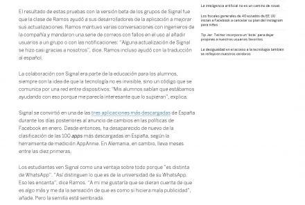 Cómo un profesor de Filosofía en Zamora colaboró en el desarrollo de Signal, la alternativa de WhatsApp